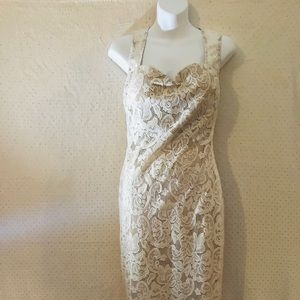 Ivory/nude bodycon lace dress